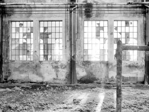 Verlaten fabriek ruines architectuur torino Stockfoto © claudiodivizia