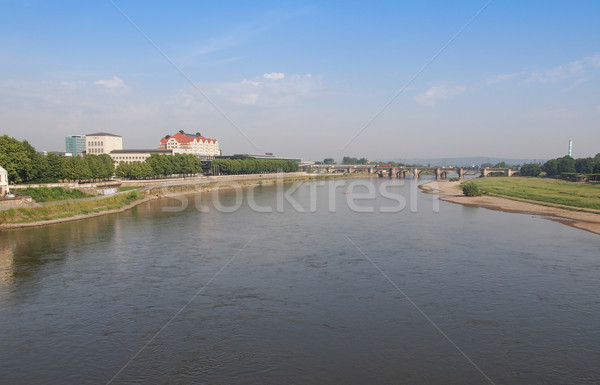 Elbe river in Dresden Stock photo © claudiodivizia
