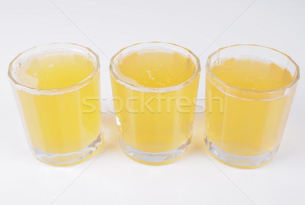 Pina jugo gafas desayuno continental mesa frutas Foto stock © claudiodivizia