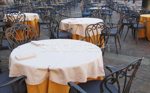 Stühle bar Restaurant Veröffentlichung Bau trinken Stock foto © claudiodivizia
