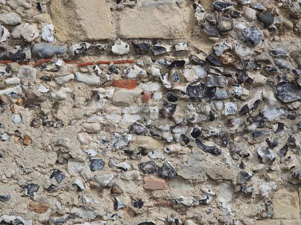 Flint wall Stock photo © claudiodivizia