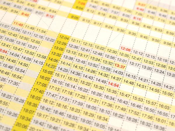 Horário partidas trens tempo avião metrô Foto stock © claudiodivizia