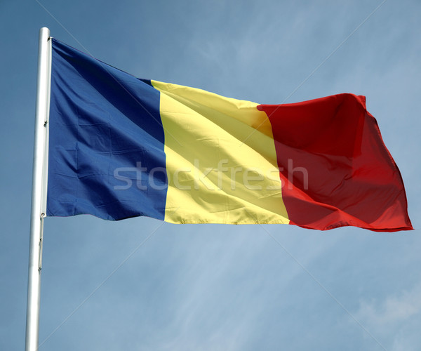 Bandera Chad cielo azul azul Foto stock © claudiodivizia