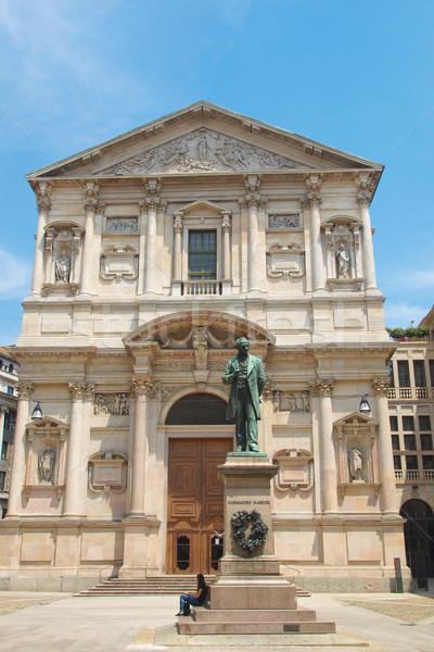 Kerk milaan Italië retro vintage geloof Stockfoto © claudiodivizia