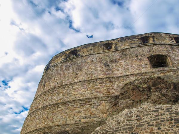 Edinburgh zamek Szkocji architektury Zdjęcia stock © claudiodivizia
