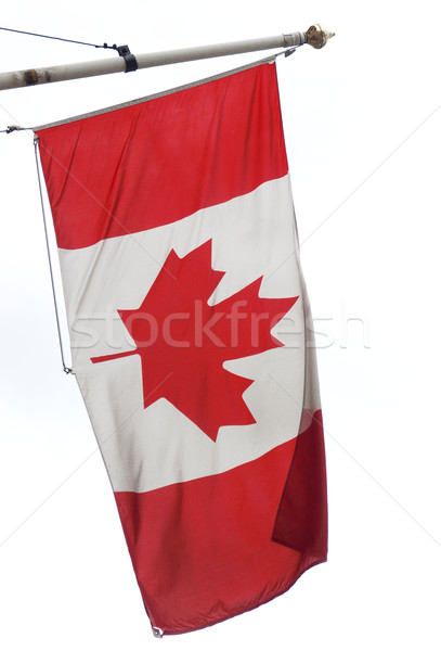 Photo stock: Canada · pavillon · drapeau · canadien · feuille