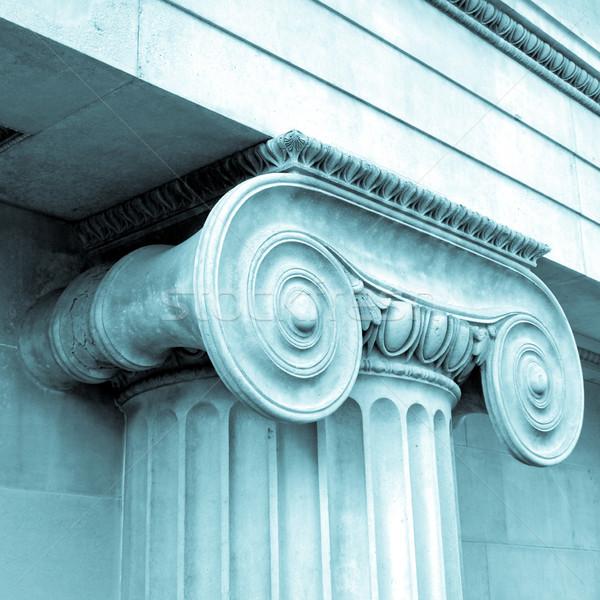 Dettaglio greco ionica colonna cool costruzione Foto d'archivio © claudiodivizia