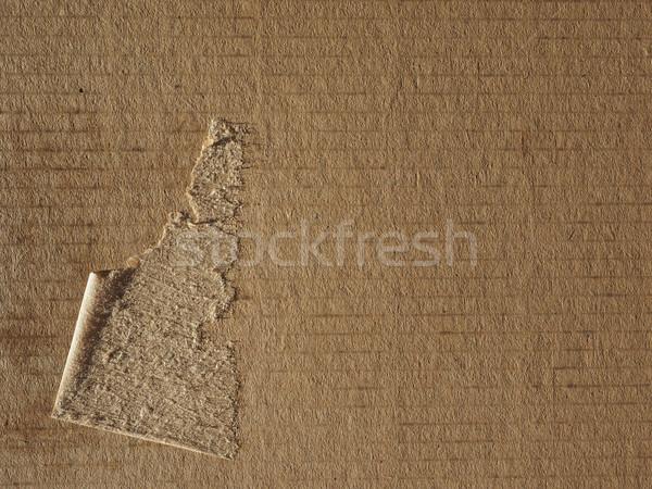 Carton brun utile papier fond Photo stock © claudiodivizia