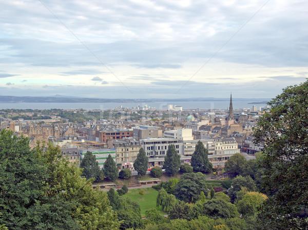 Edinburgh kilátás város Skócia Stock fotó © claudiodivizia
