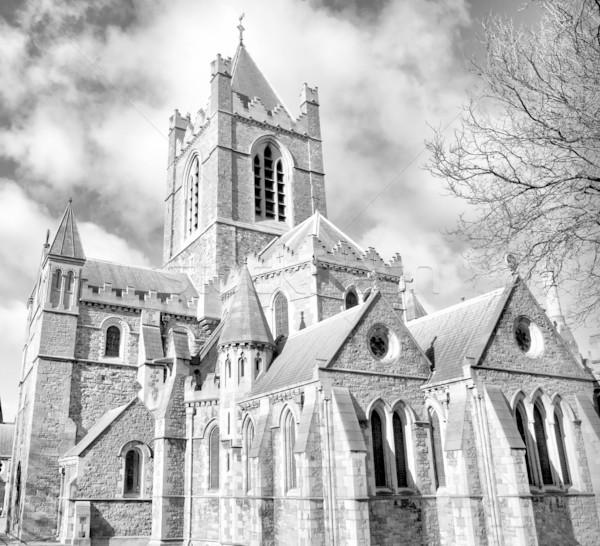 Krisztus templom Dublin ősi gótikus katedrális Stock fotó © claudiodivizia