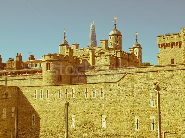 Retro guardando torre Londra vintage guardare Foto d'archivio © claudiodivizia