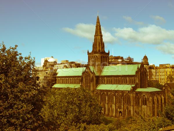 Retro guardare Glasgow cattedrale vintage guardando Foto d'archivio © claudiodivizia