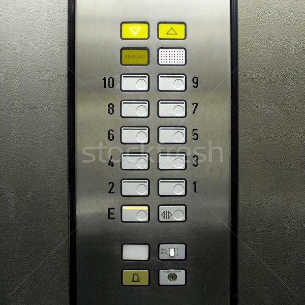 Lift elevator keypad Stock photo © claudiodivizia