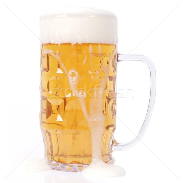 Bière verre mug isolé Photo stock © claudiodivizia