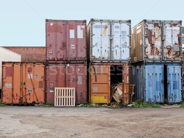 Shipping containers Stock photo © claudiodivizia