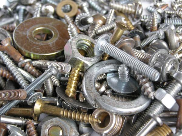 ハードウェア 産業 鋼 ナッツ 便利 爪 ストックフォト © claudiodivizia