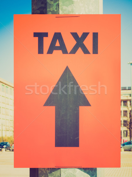 Retro look Taxi sign Stock photo © claudiodivizia