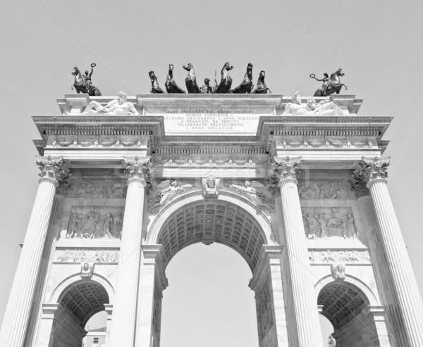Rythme milan arc paix Italie rétro Photo stock © claudiodivizia
