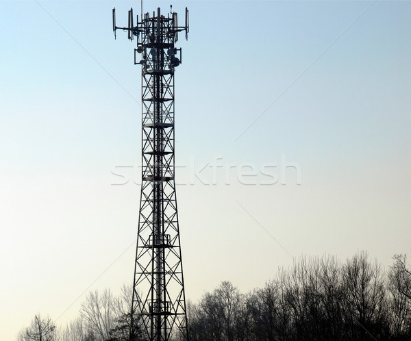 Telecommunication aerial tower Stock photo © claudiodivizia