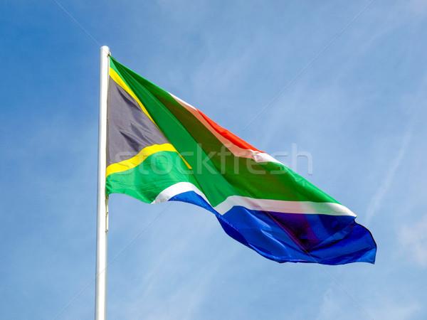 フラグ 南アフリカ 青空 空 星 青 ストックフォト © claudiodivizia