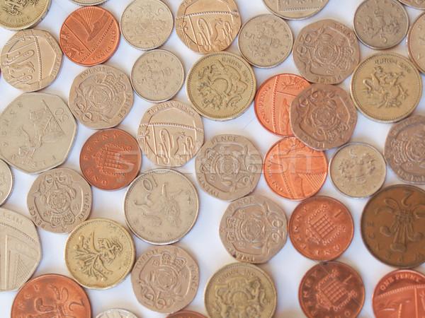 британский фунт монеты макроса изображение монетами Сток-фото © claudiodivizia