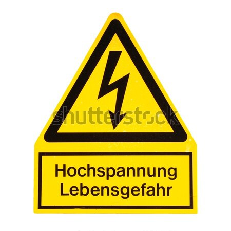 Retro wygląd niebezpieczeństwo śmierci elektryczne szoku Zdjęcia stock © claudiodivizia