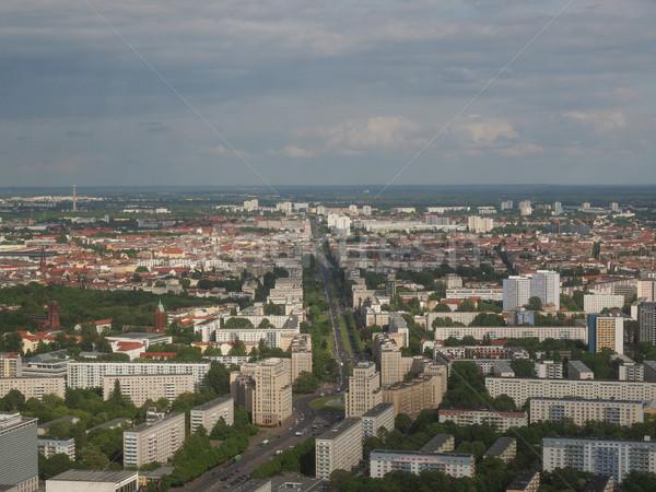 ベルリン 表示 市 ドイツ スカイライン ストックフォト © claudiodivizia
