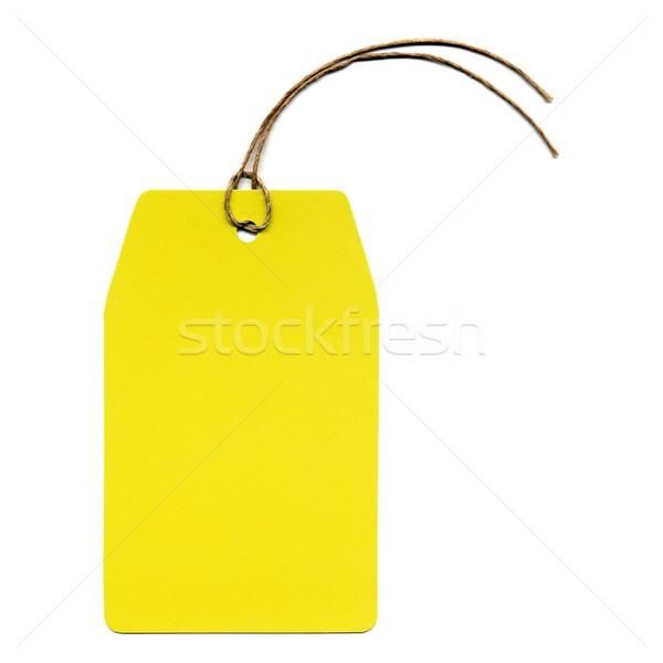 Tag étiquette prix adresse chaîne affaires Photo stock © claudiodivizia