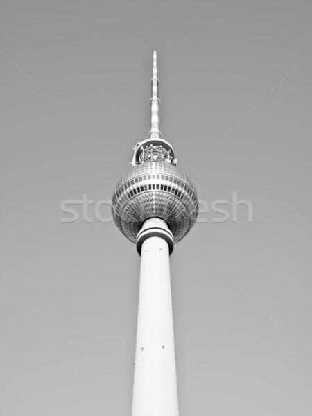 ベルリン テレビ塔 テレビ 塔 青空 ストックフォト © claudiodivizia