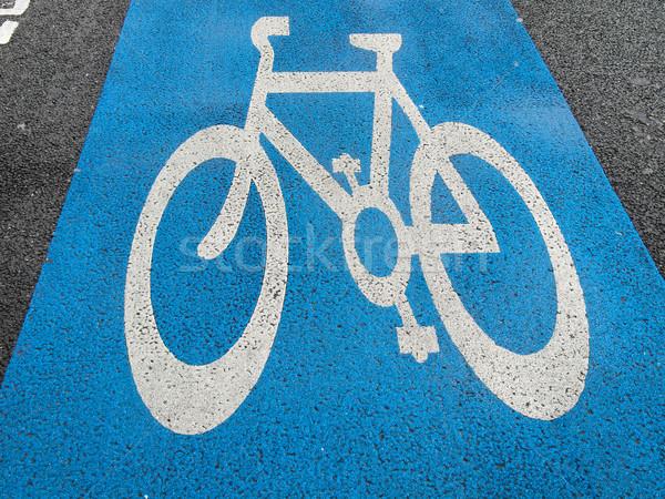 Bike corsia segno bicicletta Foto d'archivio © claudiodivizia