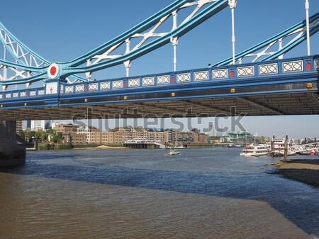 Folyó Temze London panorámakép kilátás víz Stock fotó © claudiodivizia