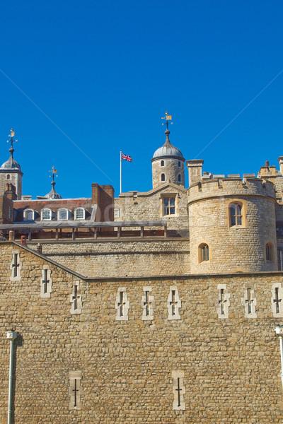 Stockfoto: Toren · Londen · middeleeuwse · kasteel · gevangenis · muur
