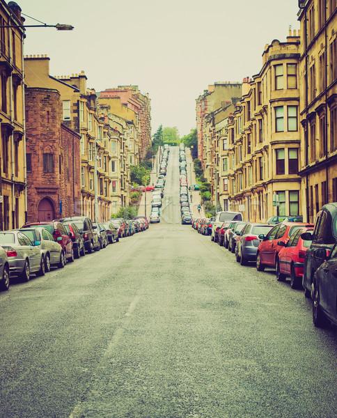 Retro patrząc Glasgow Hill vintage wygląd Zdjęcia stock © claudiodivizia
