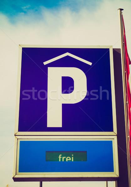 Retro look Parking sign Stock photo © claudiodivizia