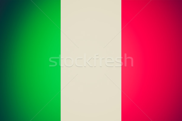 Rétro Rechercher drapeau italien vintage regarder officielle Photo stock © claudiodivizia