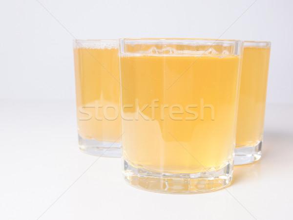 Ananas sap bril continentaal ontbijt tabel vruchten Stockfoto © claudiodivizia
