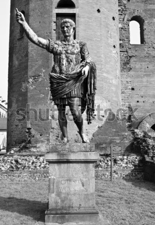 Caesar Augustus statue Stock photo © claudiodivizia