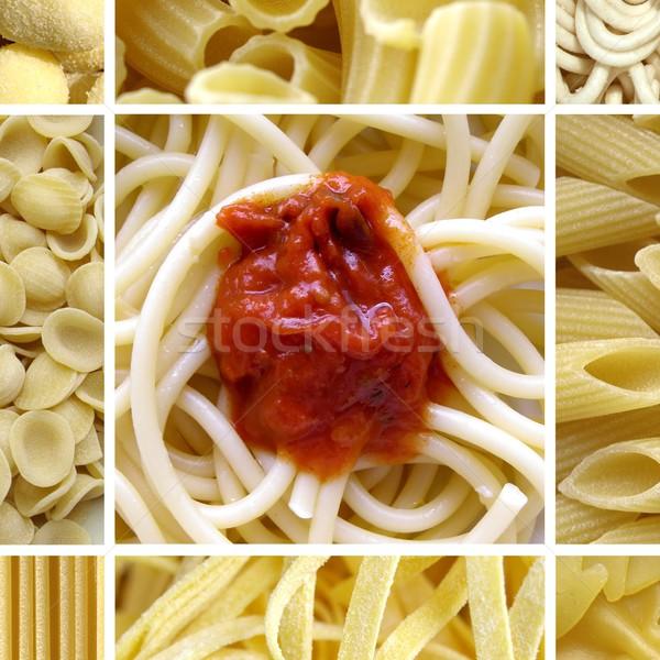 Pasta collage Stock photo © claudiodivizia