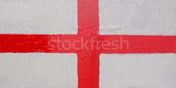 Anglia zászló angol zászló Egyesült Királyság kereszt felirat Stock fotó © claudiodivizia