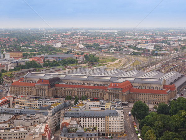 Stock photo: Leipzig aerial view
