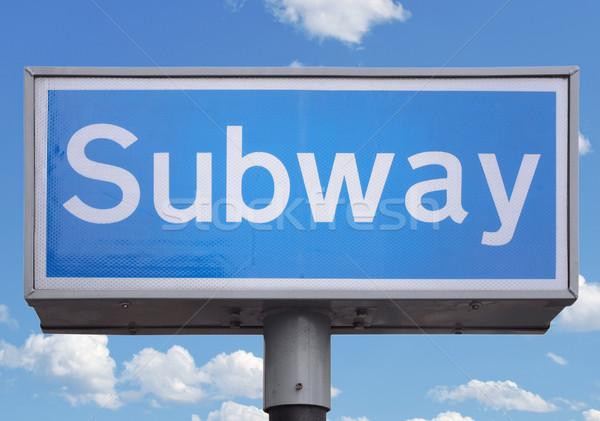 Subway sign Stock photo © claudiodivizia