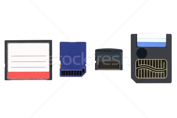 Bellek kartları farklı dijital kameralar teknoloji Stok fotoğraf © claudiodivizia