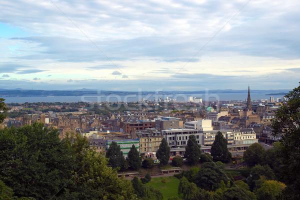 Edinburgh zdjęcie widoku miasta Szkocji Zdjęcia stock © claudiodivizia