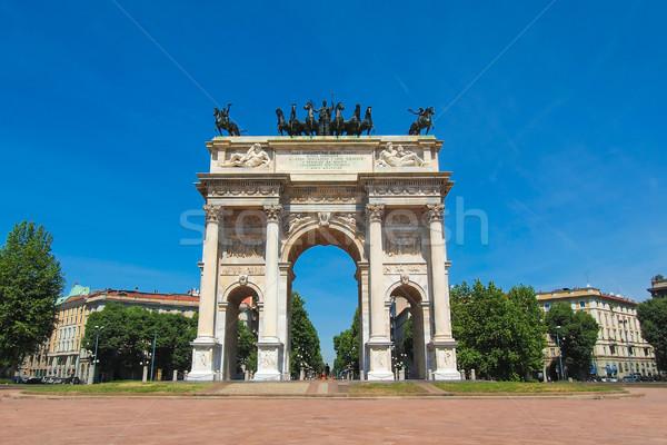 Tempo milaan boog vrede Italië retro Stockfoto © claudiodivizia
