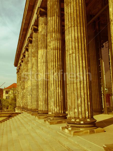 ретро глядя Берлин Vintage посмотреть музее Сток-фото © claudiodivizia