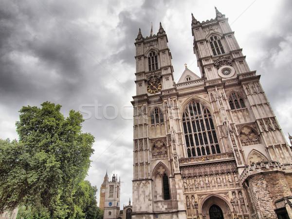 Westminster apátság London hdr magas dinamikus Stock fotó © claudiodivizia