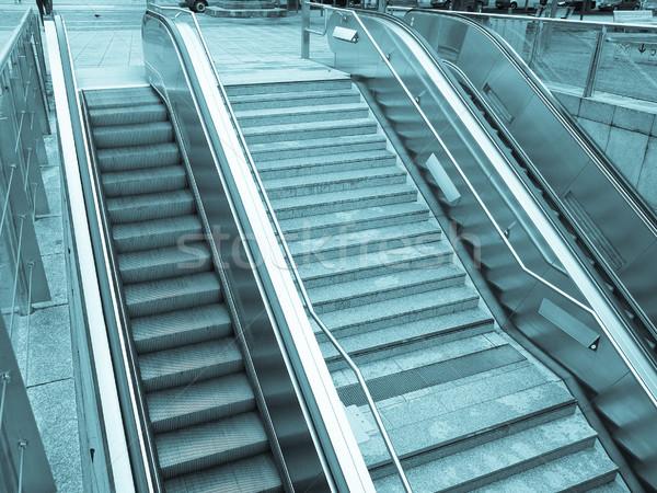 Escalator escaliers métro gare supermarché cool Photo stock © claudiodivizia