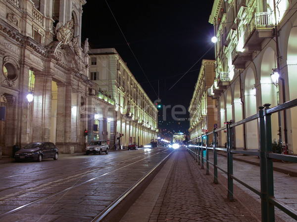 Via Po, Turin Stock photo © claudiodivizia