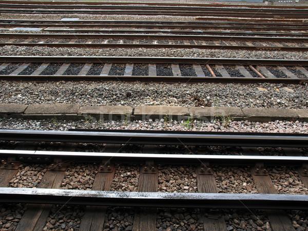 Chemin de fer train transport route façon Photo stock © claudiodivizia