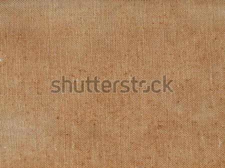 Brun toile de jute texture utile fond tissu Photo stock © claudiodivizia
